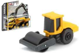 Volvo  - SD160B Soil Compactor black/yellow - 1:64 - Maisto - 15394-04 - mai15394-04 | The Diecast Company
