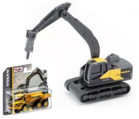 Volvo  - EC220E black/yellow - 1:64 - Maisto - 15394-05 - mai15394-05 | The Diecast Company
