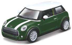 Mini Cooper - white/green - 1:43 - Maisto - 21001-16908 - mai21001-16908 | The Diecast Company
