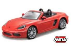 Porsche  - 718 Boxster orange - 1:43 - Maisto - 21001-18876 - mai21001-18876 | The Diecast Company