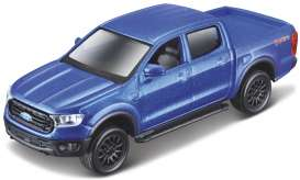 Ford  - Ranger 2019 blue - 1:43 - Maisto - 21001-08 - mai21001-08 | The Diecast Company