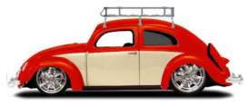 Volkswagen  - Beetle 1955 red/creme - 1:18 - Maisto - 32614 - mai32614 | The Diecast Company