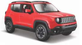 Jeep  - Renegade red - 1:24 - Maisto - 39282 - mai39282 | The Diecast Company