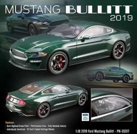 Ford  - Mustang GT *Bullitt* 2019 dark green - 1:18 - Acme Diecast - US017 - GTUS017 | The Diecast Company