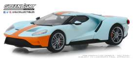 Ford  - GT 2019 orange/light blue - 1:43 - GreenLight - 86158 - gl86158 | The Diecast Company