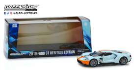 Ford  - GT 2019 orange/light blue - 1:43 - GreenLight - 86159 - gl86159 | The Diecast Company