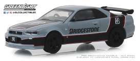 Nissan  - Skyline 2001 grey/black/red - 1:64 - GreenLight - 41080E - gl41080E | The Diecast Company