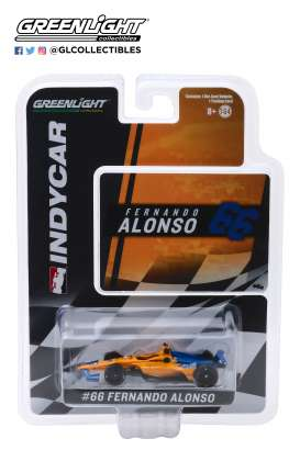 McLaren  - 2019 orange/blue - 1:64 - GreenLight - 10845 - gl10845 | The Diecast Company