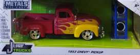 Chevrolet  - pick-up 1953 red/flames - 1:24 - Jada Toys - 54027W20 - jada54027W20-3 | The Diecast Company