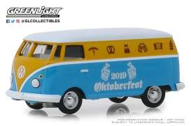 Volkswagen  - Type 2 Panel Van 2019 yellow/blue - 1:64 - GreenLight - 30045 - gl30045 | The Diecast Company
