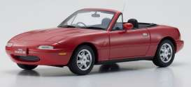 Mazda  - Eunos Roadster red - 1:18 - Kyosho - KSR18031rb - kyoKSR18031rb | The Diecast Company