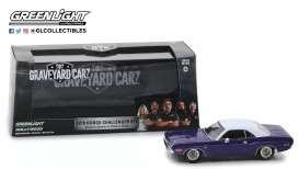 Dodge  - Challenger 1970 purple/white - 1:43 - GreenLight - 86553 - gl86553 | The Diecast Company
