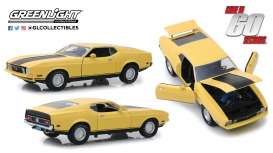Ford  - Mustang Mach I *Eleanor* 1971 yellow - 1:18 - GreenLight - 12910 - gl12910 | The Diecast Company