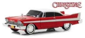Plymouth  - Fury 1958 red/white - 1:64 - GreenLight - 44840B - gl44840B | The Diecast Company