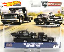 Chevrolet  - Super Nova on Retro Rig 1966 green - 1:64 - Hotwheels - mvFLF56-965C - hwmvFLF56-965C-1 | The Diecast Company