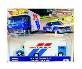 Datsun  - 510 on Fleet Flyer 1971 red/white/blue - 1:64 - Hotwheels - mvFLF56-965C - hwmvFLF56-965C-3 | The Diecast Company