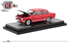 Datsun  - 510 1970 red/white - 1:24 - M2 Machines - 40300jpn02A - M2-40300jpn02A | The Diecast Company