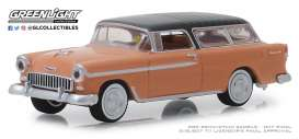 Chevrolet  - Nomad 1955 grey/coral - 1:64 - GreenLight - 37170A - gl37170A | The Diecast Company