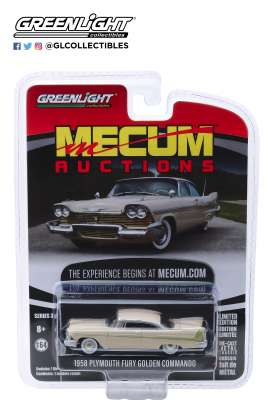 Plymouth  - Fury 1958 beige/white - 1:64 - GreenLight - 37170B - gl37170B | The Diecast Company