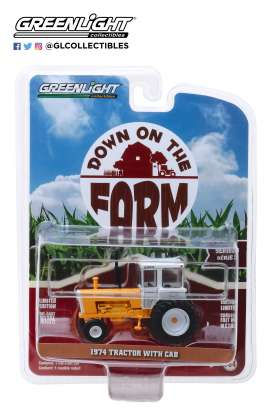 non  - Minneapolis-Moline G-1355 1974 yellow/white - 1:64 - GreenLight - 48030D - gl48030D | The Diecast Company