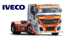 Iveco  - ETR Race orange/white - 1:43 - Bburago - 31070B - bura31070B | The Diecast Company