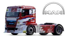 MAN  - ETR Race red/white - 1:43 - Bburago - 31070E - bura31070E | The Diecast Company