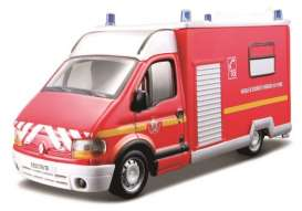 Renault  - red/white - 1:50 - Bburago - 32004 - bura32004 | The Diecast Company