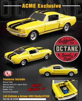 Shelby  - GT350 1966 yellow/black - 1:64 - Acme Diecast - 51249 - acme51249 | The Diecast Company