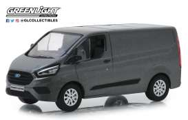 Ford  - Transit Custom V362 MCA 2018 magnetic grey - 1:43 - GreenLight - 51274 - gl51274 | The Diecast Company