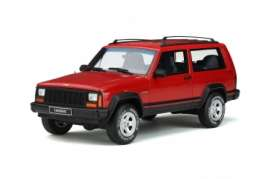 Jeep  - Cherokee 1995 red - 1:18 - OttOmobile Miniatures - 738 - otto738 | The Diecast Company