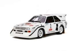 Audi  - Sport Quattro 1985 white/red/black - 1:18 - OttOmobile Miniatures - 757 - otto757 | The Diecast Company