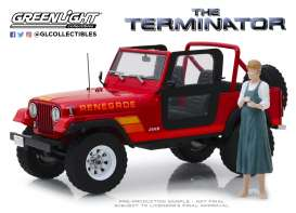 Jeep  - CJ-7 1983 red - 1:18 - GreenLight - 19060 - gl19060 | The Diecast Company