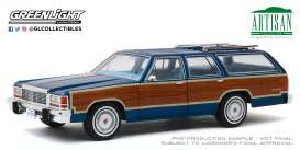 Ford  - LTD Crown Victoria 1979 blue/wood - 1:18 - GreenLight - 19063 - gl19063 | The Diecast Company