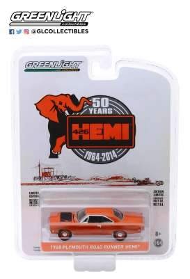 Plymouth  - Hemi Roadrunner 426 1964 red-orange - 1:64 - GreenLight - 27980C - gl27980C | The Diecast Company