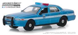 Ford  - Crown Victoria 2010 blue/white - 1:64 - GreenLight - 42880D - gl42880D | The Diecast Company