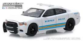 Dodge  - Charger 2011 white/blue - 1:64 - GreenLight - 42880E - gl42880E | The Diecast Company