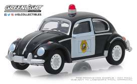 Volkswagen  - Beetle black/white - 1:64 - GreenLight - 42880F - gl42880F | The Diecast Company
