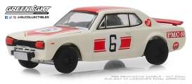 Nissan  - Skyline 2000GT 1971 white - 1:64 - GreenLight - 47040B - gl47040B | The Diecast Company