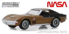 Chevrolet  - Corvette 1969 gold - 1:64 - GreenLight - 30073 - gl30073 | The Diecast Company