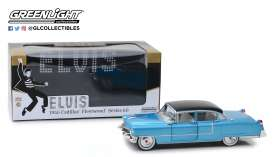 Cadillac  - Fleetwood 1955 blue - 1:24 - GreenLight - 84093 - gl84093 | The Diecast Company