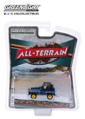 Jeep  - CJ-5 1971 blue - 1:64 - GreenLight - 35130B - gl35130B | The Diecast Company