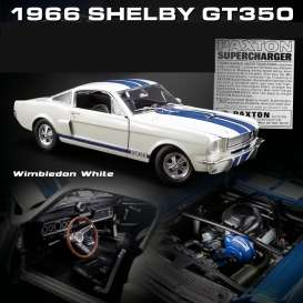 Shelby  - GT350 Supercharged 1966 white/blue - 1:18 - Acme Diecast - 1801833 - acme1801833 | The Diecast Company