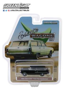 Chevrolet  - Two-Ten Handyman 1955 black - 1:64 - GreenLight - 29950B - gl29950B | The Diecast Company