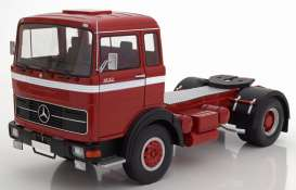 Mercedes Benz  - LPS 1632 1969 red/black/white - 1:18 - Road Kings - 180021 - rk180021 | The Diecast Company