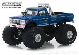 Ford  - F-250 Monster Truck 1974 blue - 1:64 - GreenLight - 49040A - gl49040A | The Diecast Company