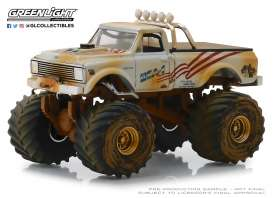 Chevrolet  - K-10 white/sand - 1:64 - GreenLight - 49040D - gl49040D | The Diecast Company