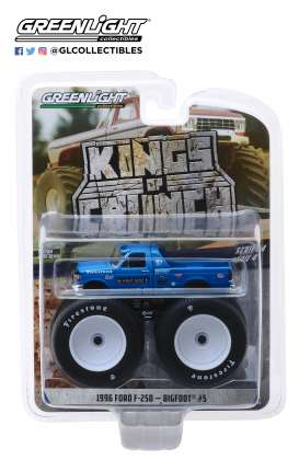 Ford  - F-250 Monster Truck 1996 blue - 1:64 - GreenLight - 49040E - gl49040E | The Diecast Company