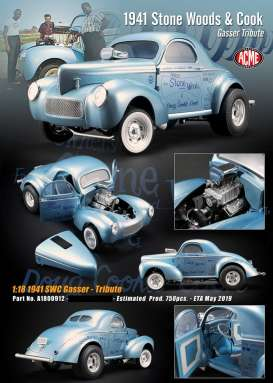 Willys  - 1941 blue - 1:18 - Acme Diecast - 1800912 - acme1800912 | The Diecast Company