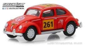 Volkswagen  - Beetle 1954 red-orange - 1:64 - GreenLight - 13240A - gl13240A | The Diecast Company