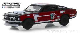 Ford  - Mustang Mach 1 1969 red/black - 1:64 - GreenLight - 13240D - gl13240D | The Diecast Company